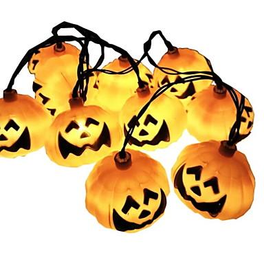 5m bučica niz svjetla 20 leds žuta Halloween party dekorativni solarni pogon 1 set