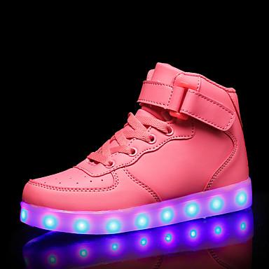 בנות נעליים זוהרות PU נעלי ספורט ילדים / מתבגר אדום / כחול / ורוד סתיו / גומי