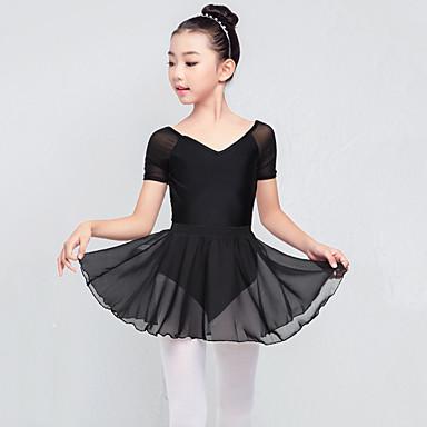 Balet Outfits Djevojčice Trening Najlon Kombinacija materijala Bez rukávů Visok Suknje / Hula-hopke / Onesie
