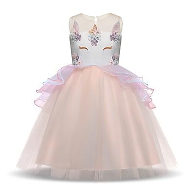 Prinsessa Vintage Mekot Juhla-asu Flapper mekko Tyttöjen Asu Purppura / Sininen / Pinkki Vintage Cosplay Hihaton