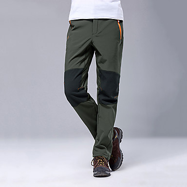 ce4b398bf2c45 Men's Hiking Pants Softshell Pants Outdoor Waterproof Thermal / Warm Fleece  Lining Thick Spring Fall Winter Fleece Pants / Trousers Bottoms Skiing  Camping ...