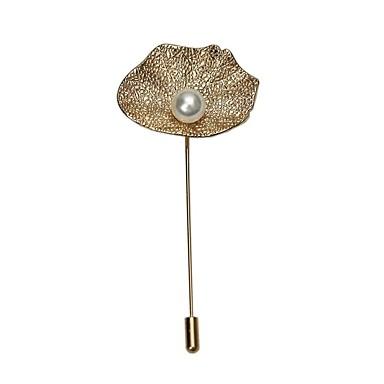 Žene Broševi Retro Broš Jewelry Bež Zlatan Za Vjenčanje Svečanost