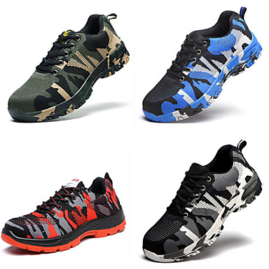 cheap Security & Safety-Work Safety Shoes Boots for Workplace Safety Supplies Casual Breathable Outdoor Sneakers Waterproof Various Sizes