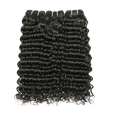 baratos Extensões de Cabelo Natural-3 pacotes Cabelo Peruviano Onda de Água 10A Cabelo Natural Remy Cabelo Humano Peça para Cabeça Cuidados com Cabelo Cabelo Bundle 8-28 polegada Preta Côr Natural Tramas de cabelo humano Sedoso Suave