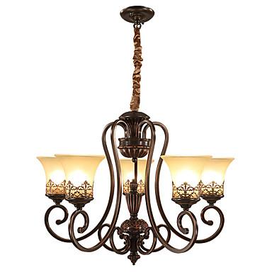 Ecolight™ 5-Licht Kronleuchter Raumbeleuchtung Lackierte Oberflächen Metall Glas Candle-Art 110-120V / 220-240V Glühbirne nicht inklusive / E26 / E27