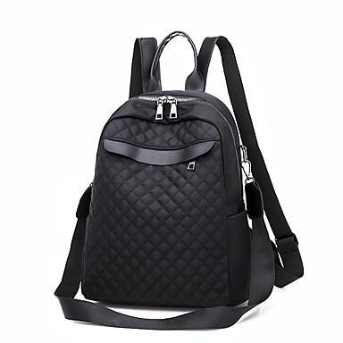 a9bb8f7f4 Mujer Bolsos PU mochila Cremallera Color sólido Negro / Otoño invierno