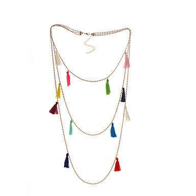abordables Collier-Collier Pendentif Femme Franges dames unique Tropical Coloré Mignon Arc-en-ciel 60 cm Colliers Tendance Bijoux 1pc pour Sortie Valentin
