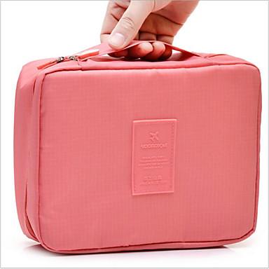 Onestà Poliestere Borsa Per Cosmetica Cerniera Azzurro Cielo - Rosa - Rosso Scuro #07012079