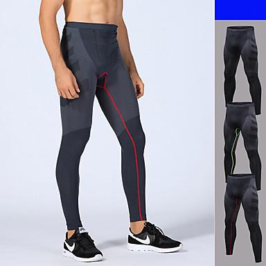 a309e20c12c1 Herr Lappverk Tights för jogging Svart Röd Grön sporter Färgblock Elastan  Cykling Tights Löpning Fitness Träna