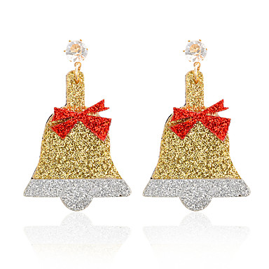 Žene Viseće naušnice Vintage Style dame Jedinstven dizajn Crtići Slatka Style Naušnice Jewelry Zlato Za Božić Dar Festival 1 par