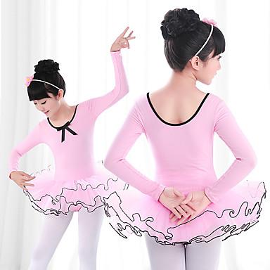 Ballett Kleider Mädchen Training / Leistung Elastan / Lycra Plissee / Kombination Langarm Kleid