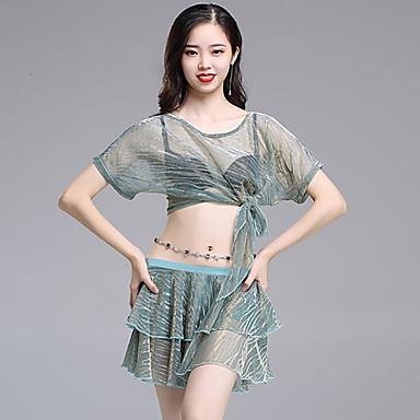 ベリーダンス セット 女性用 訓練 / 性能 ビスコース バンデージ 半袖 ローウエスト スカート / 上着