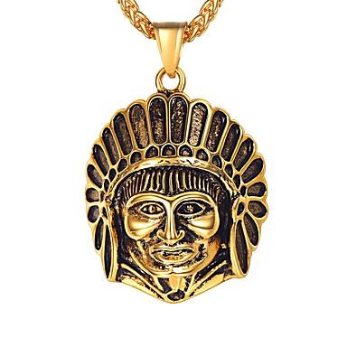 billige Mote Halskjede-Herre Anheng Halskjede Klassisk Klassisk Rustfritt Stål Gull Sølv 55 cm Halskjeder Smykker 1pc Til Gave Daglig