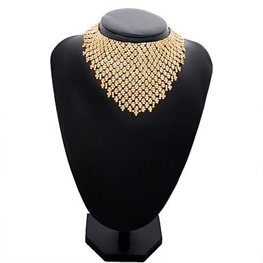 Žene Choker oglice Ogrlica od prstena Perlice Legura Zlato Pink 12*24.5*2.5*9 cm Ogrlice Jewelry 1pc Za Vjenčanje Izlasci
