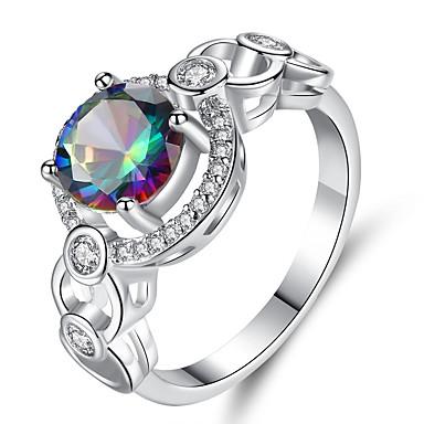 Žene Band Ring Zaručnički prsten Kubični Zirconia 1pc purpurna boja Plastika Titanij Čelik Circle Shape Geometric Shape Vintage Elegantno Vjenčanje Angažman Jewelry Vintage Style Klasičan