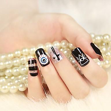 12 pcs Naljepnica za prijenos vode Kreativan nail art Manikura Pedikura Multi Function / Najbolja kvaliteta Punk / pomodan Dnevno