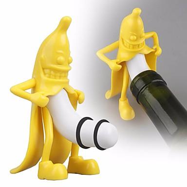 povoljno Dom i vrt-crtani banana oblik crveno vino boca stopper pivo čep pluta boca čep