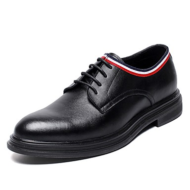Men's Comfort Shoes Leather Fall & Winter Oxfords Black
