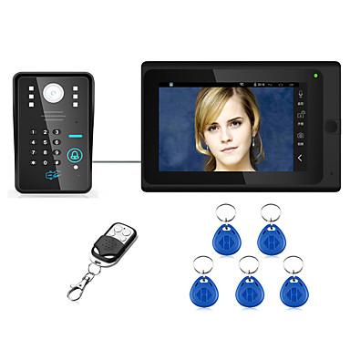 Wired  Doorbell Intercom System   7inch Wired Wireless Wifi Rfid Password Video Door Phone Doorbell