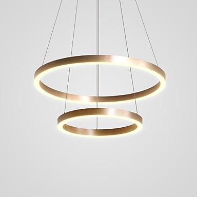 CONTRACTED LED® 2-Light Cirkularno / Noviteti Lusteri Downlight Brushed Aluminij Prilagodljiv, New Design 110-120V / 220-240V Meleg fehér / Hladno bijela