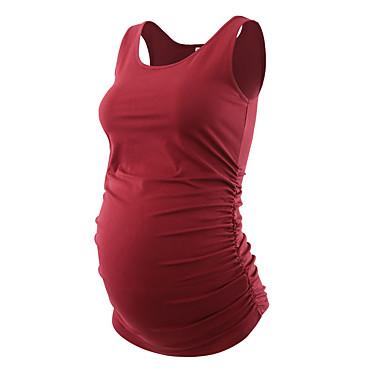 tanie Odzież ciążowa-T-shirt Damskie Moda miejska Solidne kolory