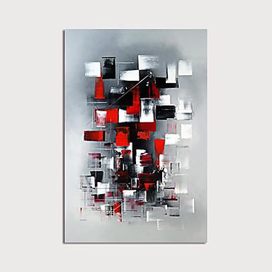Hang-Ölgemälde Handgemalte - Abstrakt Modern Ohne Innenrahmen / Gerollte Leinwand