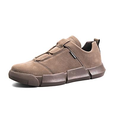 Ανδρικά Παπούτσια άνεσης PU Φθινόπωρο & Χειμώνας Καθημερινό Αθλητικά Παπούτσια Περπάτημα Φορέστε την απόδειξη Μαύρο / Κόκκινο / Χακί