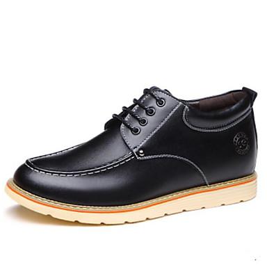 남성용 구두 가죽 가을 겨울 옥스포드 일상 용 블랙 / 옐로우 / 브라운 / 편안한 신발