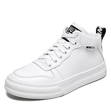 Herre Komfort Sko Mikrofiber Vinter Sneakers Hvid / Sort