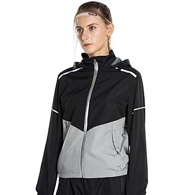 FLYGAGa Žene Prednji Zipper Trenirka Sauna odijelo Moda Nano Silver Zumba Yoga Trčanje Hlače Majice Sportska odijela Veći konfekcijski brojevi Dugih rukava Odjeća za rekreaciju Slimming Gubitak