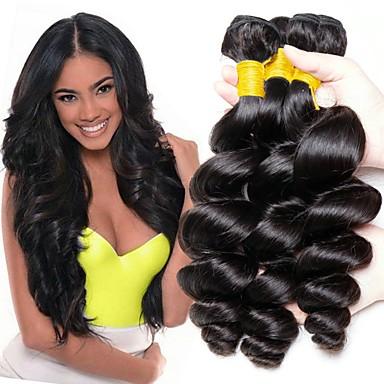 3 paketa Peruanska kosa Valovita kosa Ljudska kosa Netretirana  ljudske kose Headpiece Ljudske kose plete Styling kose 8-28 inch Prirodna boja Isprepliće ljudske kose Nježno Svilenkast Smooth