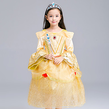 Princeza Cosplay Nošnje Dječji Djevojčice Haljine Mesh Božić Halloween Karneval Festival / Praznik Organza Pamuk Bijela Karneval kostime Čipka
