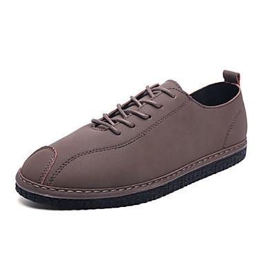 Ανδρικά Παπούτσια άνεσης PU Φθινόπωρο & Χειμώνας Καθημερινό Oxfords Φορέστε την απόδειξη Μαύρο / Γκρίζο / Χακί