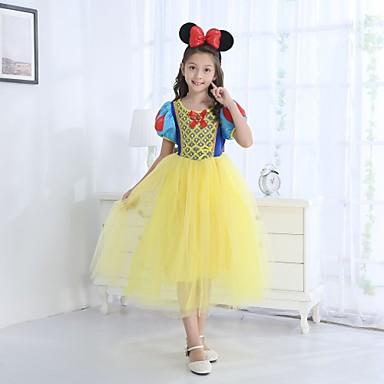 Drugi kostimi Princeza Kostim za party Dječji Djevojčice Crtići Halloween Halloween Maškare Festival / Praznik Akril vlakna Yellow+Blue Karneval kostime Crtani film