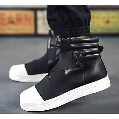 Men's Comfort Shoes PU(Polyurethane) Fall & Winter Boots Booties / Ankle Boots White / Red / Black / White