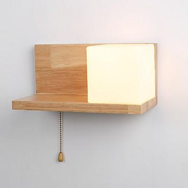 Cool Suvremena suvremena Zidne svjetiljke Spavaća soba Wood / Bamboo zidna svjetiljka 220-240V 3 W