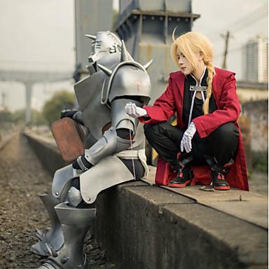 Εμπνευσμένη από Fullmetal Alchemist Edward Elric Anime Στολές Ηρώων Κοστούμια Cosplay Patchwork Μακρυμάνικο Επίστρωση / Γιλέκο / Παντελόνια Για Ανδρικά