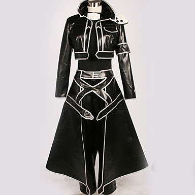 Inspirirana SAO Swords Art Online Kirito Anime Cosplay nošnje Japanski Cosplay Suits Posebni dizajni Top / Hlače / More Accessories Za Muškarci / Žene