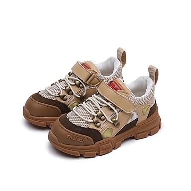 9b07f4103 Chico   Chica Zapatos Cuero Otoño Confort Zapatillas de Atletismo Cinta  Adhesiva para Niños   Bebé Negro   Marrón   A Rayas   Goma