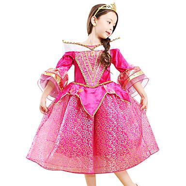 Aurora Cosplay Nošnje Dječji Djevojčice Haljine Mesh Božić Halloween Karneval Festival / Praznik Til Svila Red Karneval kostime Čipka