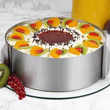 halpa Leivontavälineet-1kpl Ruostumaton teräs Kakku kakku Muotit Bakeware-työkalut