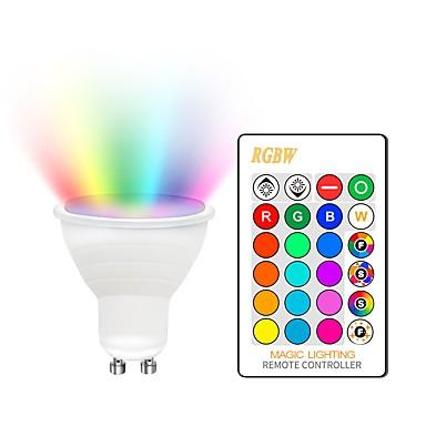 billige Elpærer-KWB 1set 5 W LED-spotpærer 400-450 lm GU10 E26 / E27 2 LED perler COB Mulighet for demping Dekorativ Fargegradering RGBW 85-265 V / RoHs