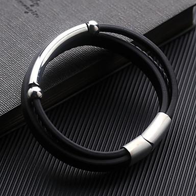 Męskie Geometric Shape Bransoletki Wrap - Skóra Bransoletki Czarny Na Codzienny Formalny