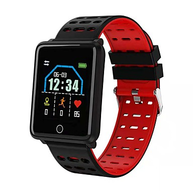 d42e347baa4 Kimlink F21 Smartwatch Android iOS Bluetooth Heart Rate Monitor Blood  Pressure Measurement Calories Burned Distance Tracking Pedometer Call  Reminder ...