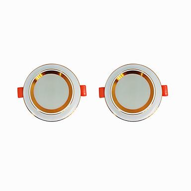 2pcs 5 W 360 lm 20 LED-pärlor Enkel att installera Infälld LED-downlight Varmvit Kallvit 220-240 V Hem / kontor Vardagsrum / matrum
