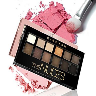 12 Colors Eyeshadow / Eyeshadow Palette EyeShadow Women / Protection / Multi-tool Multifunctional Daily Makeup / Halloween Makeup / Party Makeup 1160 Cosmetic