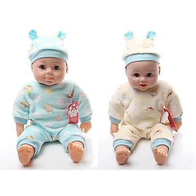 halpa Nukke-Muoti Doll Puhuva lelu Poikavauvat 16 inch Silikoni - Smart elävä Lapset / nuoret Lasten Unisex Lelut Lahja