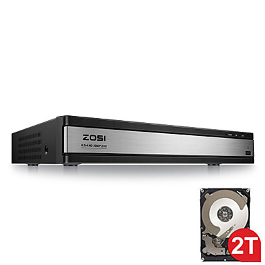 ZOSI® HD 1080P 16CH DVR Surveillance Video Recorder H 264