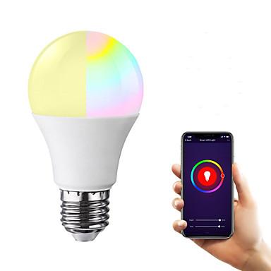 billige Elpærer-1pc 7 W LED-globepærer 600-700 lm E26 / E27 20 LED perler SMD 5730 APP-kontroll Smart Mulighet for demping RGBW 85-265 V
