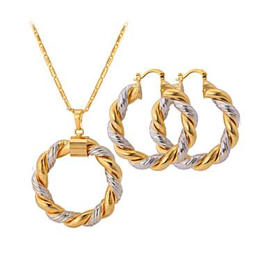 Damen Schmuck-Set - Platiert, vergoldet damas, zweifarbig Einschließen Farbbildschirm Für Hochzeit Party Normal / Ohrringe / Halsketten